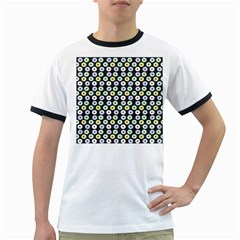 Eye Dots Grey Pastel Ringer T Shirts