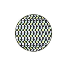 Eye Dots Grey Pastel Hat Clip Ball Marker (10 Pack)