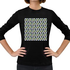 Eye Dots Grey Pastel Women s Long Sleeve Dark T Shirts