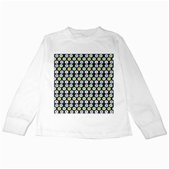 Eye Dots Grey Pastel Kids Long Sleeve T Shirts
