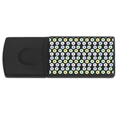 Eye Dots Grey Pastel Rectangular Usb Flash Drive by snowwhitegirl