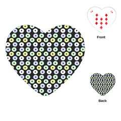 Eye Dots Grey Pastel Playing Cards (heart)