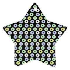 Eye Dots Grey Pastel Star Ornament (two Sides)