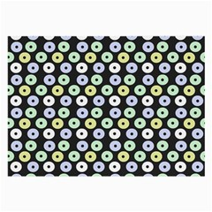Eye Dots Grey Pastel Large Glasses Cloth