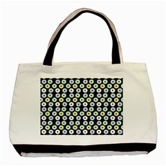 Eye Dots Grey Pastel Basic Tote Bag (two Sides)
