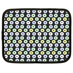 Eye Dots Grey Pastel Netbook Case (large)