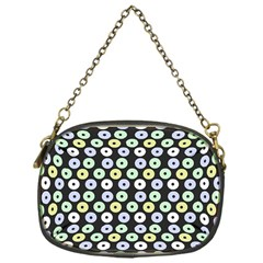 Eye Dots Grey Pastel Chain Purses (one Side)