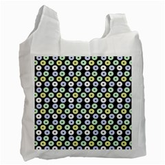 Eye Dots Grey Pastel Recycle Bag (two Side)