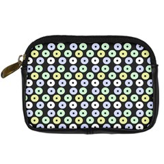 Eye Dots Grey Pastel Digital Camera Cases