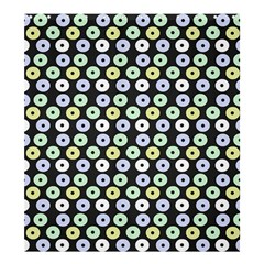 Eye Dots Grey Pastel Shower Curtain 66  X 72  (large)