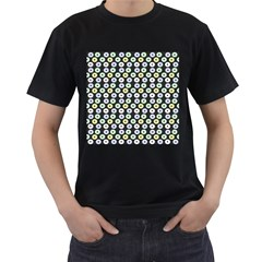 Eye Dots Grey Pastel Men s T Shirt (black)