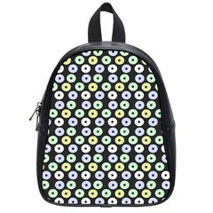 Eye Dots Grey Pastel School Bag (small)