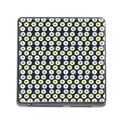 Eye Dots Grey Pastel Memory Card Reader (square)