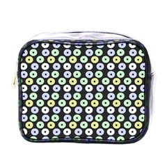 Eye Dots Grey Pastel Mini Toiletries Bags