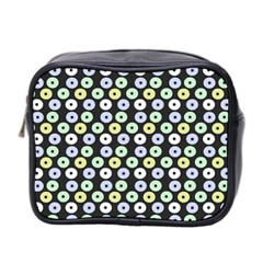 Eye Dots Grey Pastel Mini Toiletries Bag 2 Side