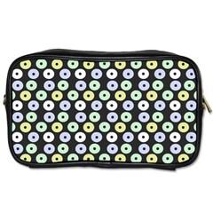 Eye Dots Grey Pastel Toiletries Bags