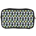 Eye Dots Grey Pastel Toiletries Bags 2-Side Front
