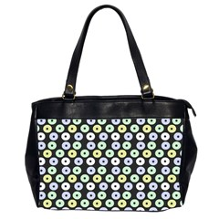 Eye Dots Grey Pastel Office Handbags (2 Sides)