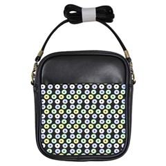 Eye Dots Grey Pastel Girls Sling Bags