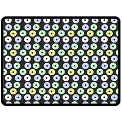 Eye Dots Grey Pastel Fleece Blanket (large)