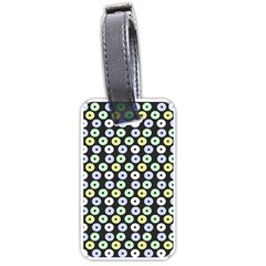 Eye Dots Grey Pastel Luggage Tags (one Side)