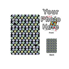 Eye Dots Grey Pastel Playing Cards 54 (mini)