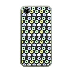Eye Dots Grey Pastel Apple Iphone 4 Case (clear)