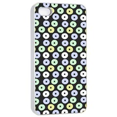 Eye Dots Grey Pastel Apple Iphone 4/4s Seamless Case (white)