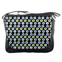 Eye Dots Grey Pastel Messenger Bags