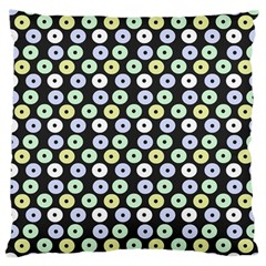 Eye Dots Grey Pastel Large Cushion Case (one Side)