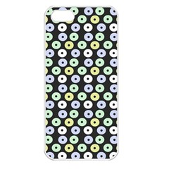 Eye Dots Grey Pastel Apple Iphone 5 Seamless Case (white)