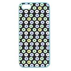 Eye Dots Grey Pastel Apple Seamless Iphone 5 Case (color)