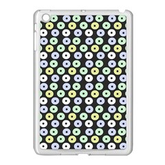 Eye Dots Grey Pastel Apple Ipad Mini Case (white)