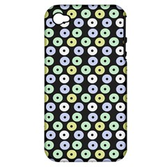 Eye Dots Grey Pastel Apple Iphone 4/4s Hardshell Case (pc+silicone)
