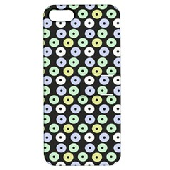 Eye Dots Grey Pastel Apple Iphone 5 Hardshell Case With Stand