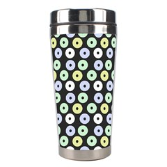 Eye Dots Grey Pastel Stainless Steel Travel Tumblers