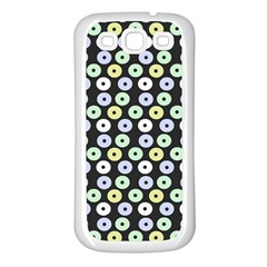 Eye Dots Grey Pastel Samsung Galaxy S3 Back Case (white)