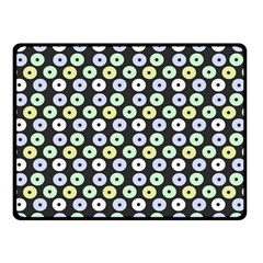 Eye Dots Grey Pastel Double Sided Fleece Blanket (small)