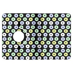 Eye Dots Grey Pastel Kindle Fire Hdx Flip 360 Case