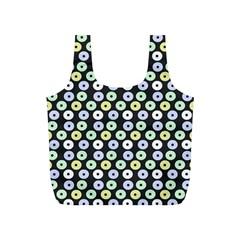 Eye Dots Grey Pastel Full Print Recycle Bags (s)