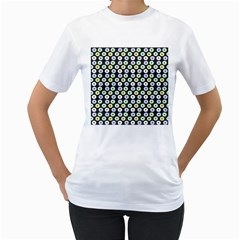 Eye Dots Grey Pastel Women s T Shirt (white)