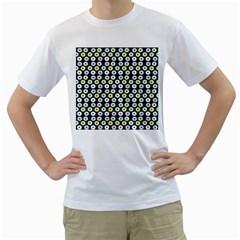 Eye Dots Grey Pastel Men s T Shirt (white)