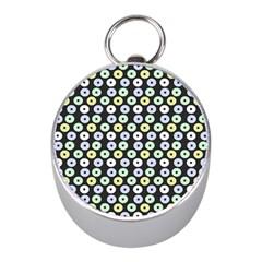 Eye Dots Grey Pastel Mini Silver Compasses