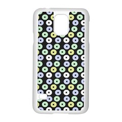 Eye Dots Grey Pastel Samsung Galaxy S5 Case (white)