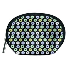 Eye Dots Grey Pastel Accessory Pouches (medium)