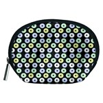 Eye Dots Grey Pastel Accessory Pouches (Medium)  Front