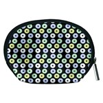 Eye Dots Grey Pastel Accessory Pouches (Medium)  Back