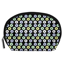 Eye Dots Grey Pastel Accessory Pouches (large)