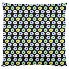 Eye Dots Grey Pastel Standard Flano Cushion Case (two Sides)