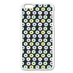Eye Dots Grey Pastel Apple Iphone 6 Plus/6s Plus Enamel White Case